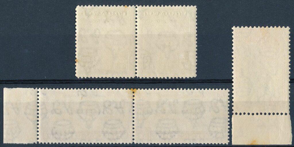 Roest op postzegels