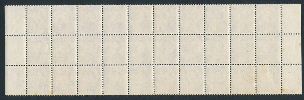 Roest op vel postzegels