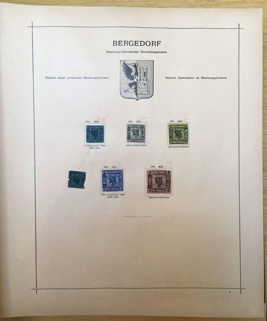 oude duitse postzegels in wereldalbum
