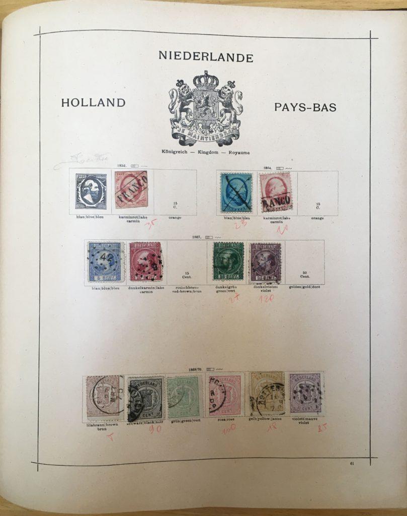 oude nederlandse postzegels in wereldalbum